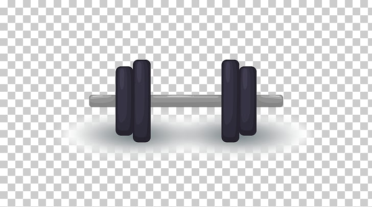 Barbell Exercise equipment , Barbell, black and gray.