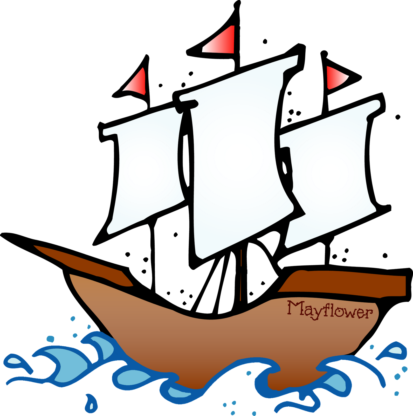 Mayflower clipart explorer ship, Mayflower explorer ship.