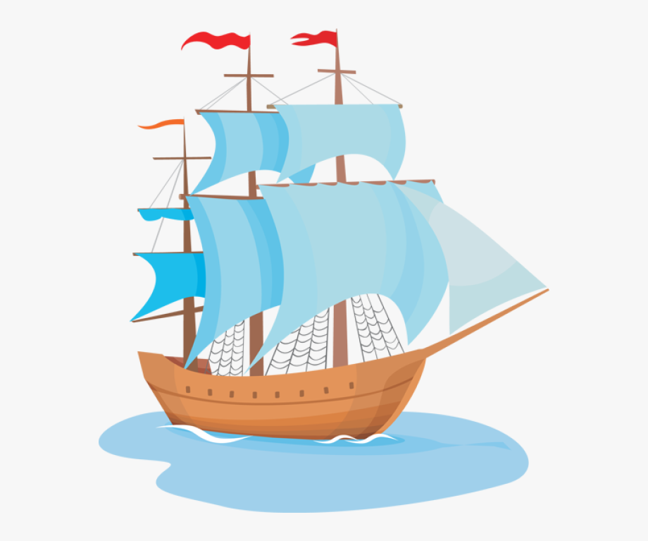 Explorer Clipart Wooden Ship.