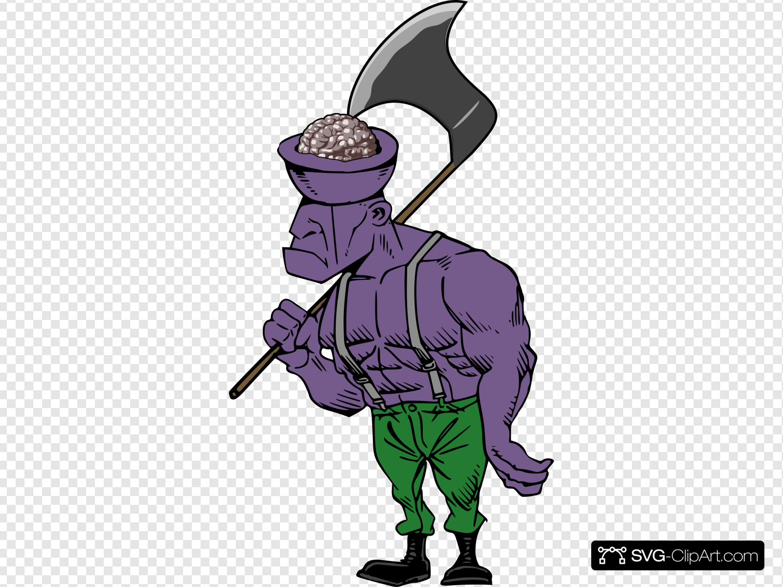 Exposed Brain Zombie Clip art, Icon and SVG.