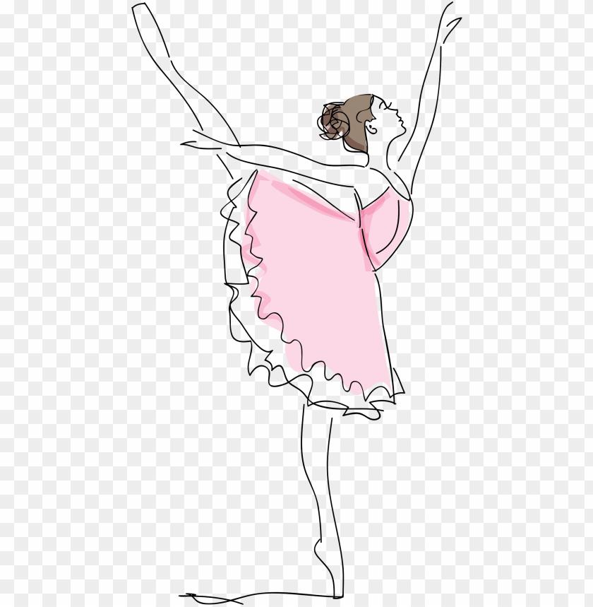 clipart library stock clipart ballerina sketch big.