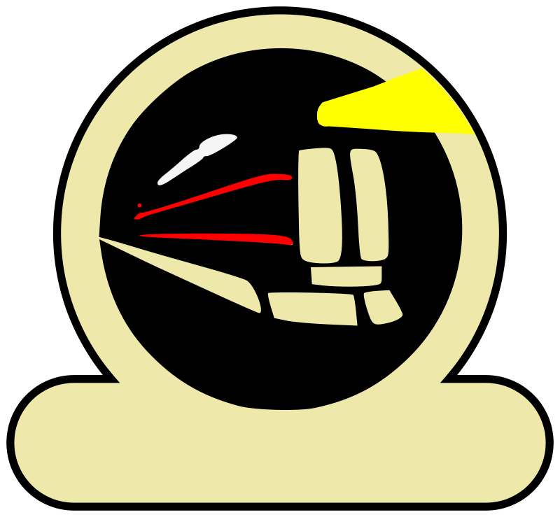 Free Clipart: Express Train Patch Black.