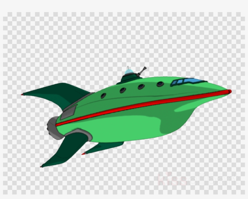 Download Futurama Ship Transparent Clipart Planet Express.