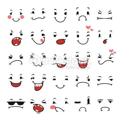 Griffonnage Expressions Du Visage Pour Lhumour Design Clipart.