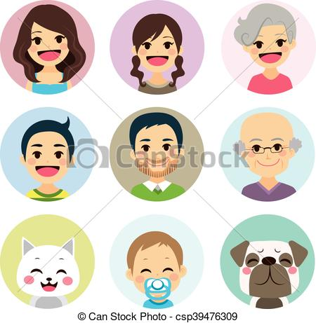 Extended family Illustrations and Clip Art. 100 Extended family.