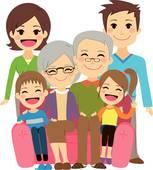 Extended Family Clip Art.