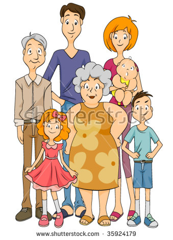 Extended Family Vector Stock Vector 35924179.