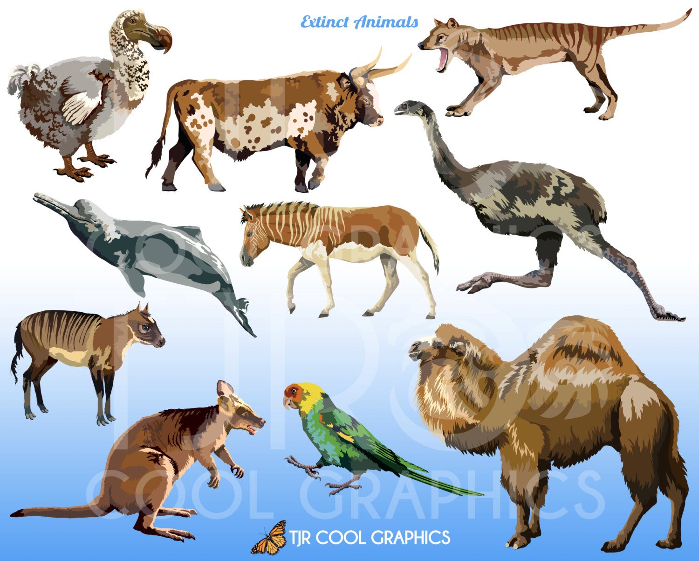 Extinct Animals Clipart.