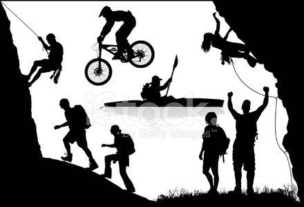 Adventure Sports Clipart Image.