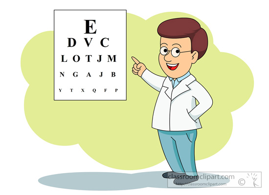 Care for the eyes clipart.
