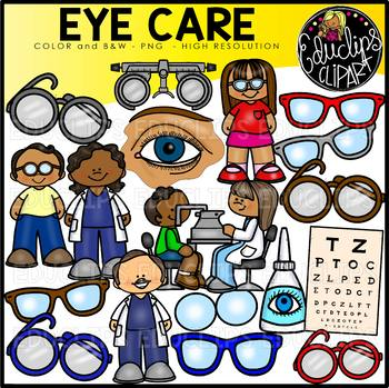 Eye Care Clip Art Set {Educlips Clipart}.