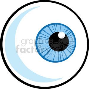 cartoon blue eyeball clipart. Royalty.