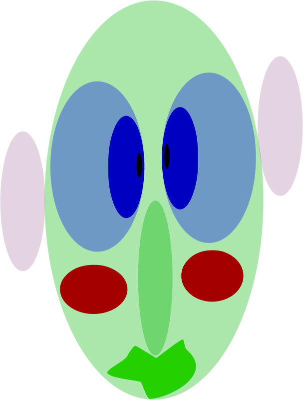 Free Clipart: Face With Eyes Ears.