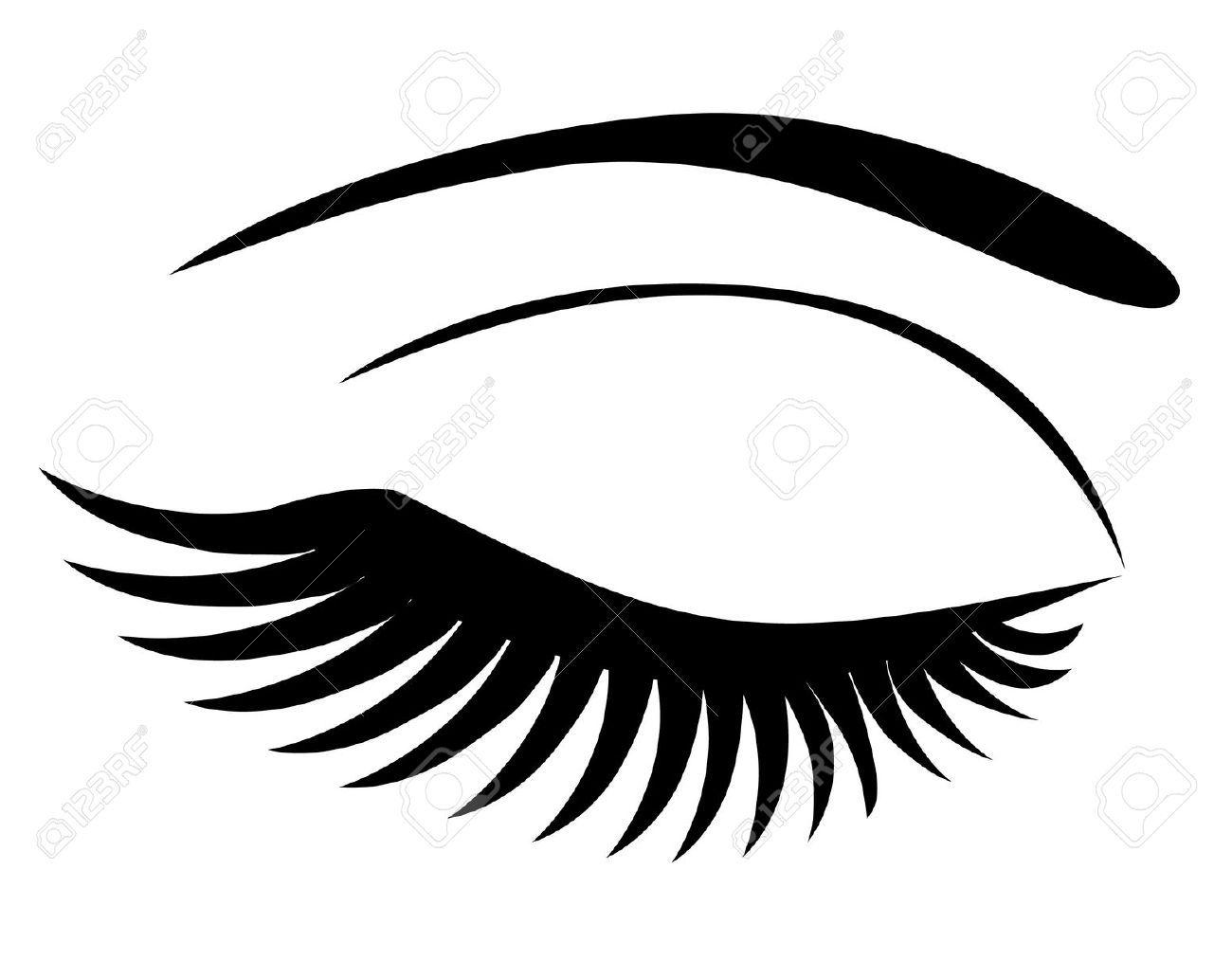 Eyes with eyelashes clipart.