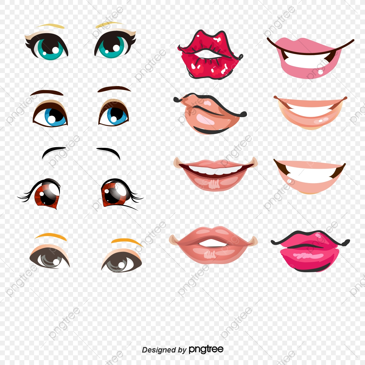 Vector Eyes Ears Nose And Mouth, Mouth Vector, Hd, Vector PNG and.