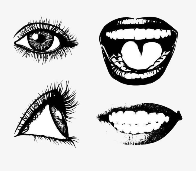 Eyes and mouth clipart 3 » Clipart Station.