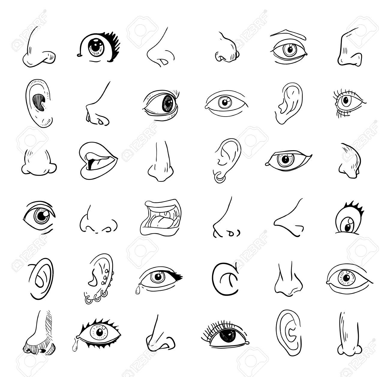 Eyes nose and mouth clipart 6 » Clipart Portal.
