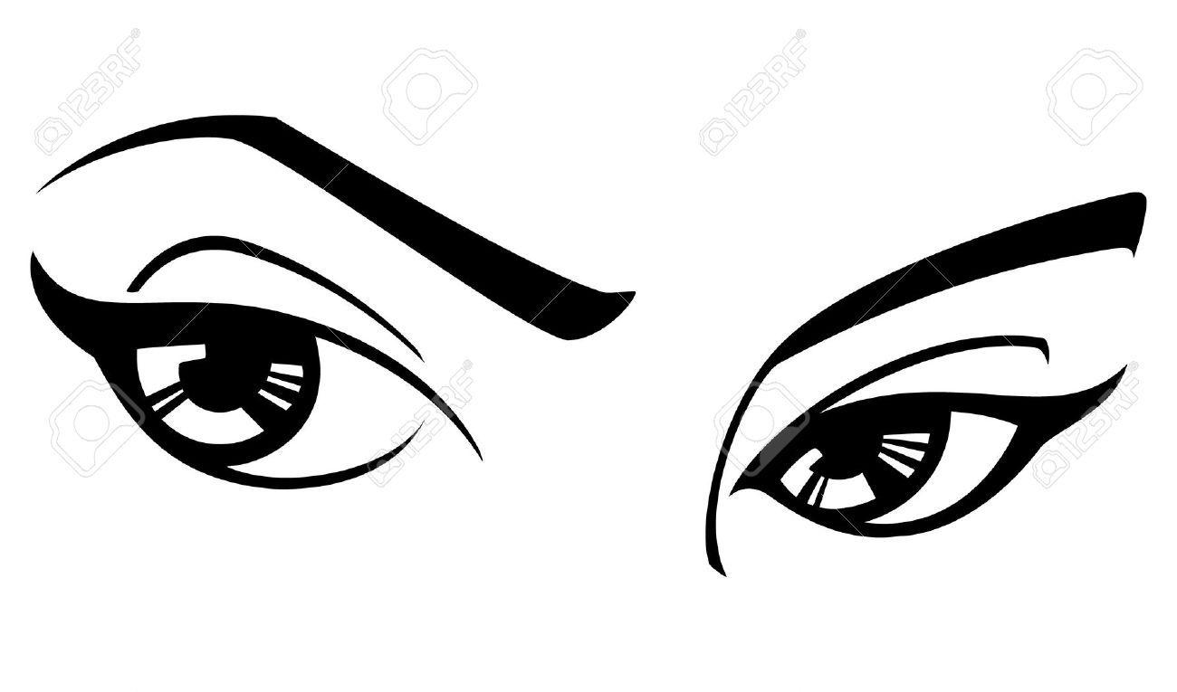 Eyes With Eyelashes Clipart Black And White.