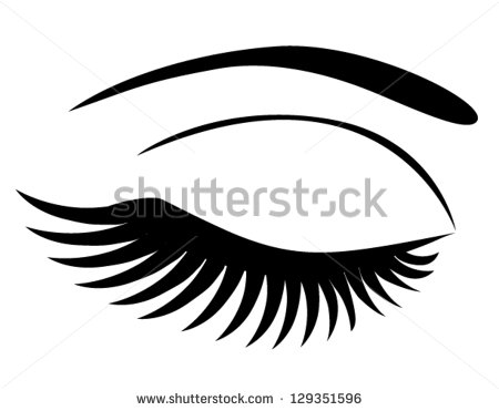 Long Eyelashes Stock Vectors & Vector Clip Art.