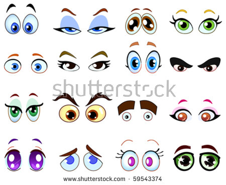 Cute Cartoon Eyes Stock Images, Royalty.