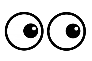 Eyes looking up clipart 1 » Clipart Station.