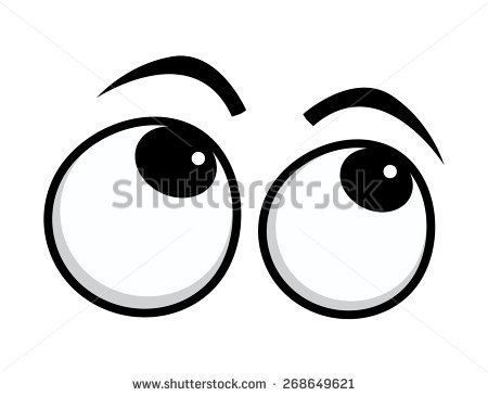 Clipart Eyes Looking Up.