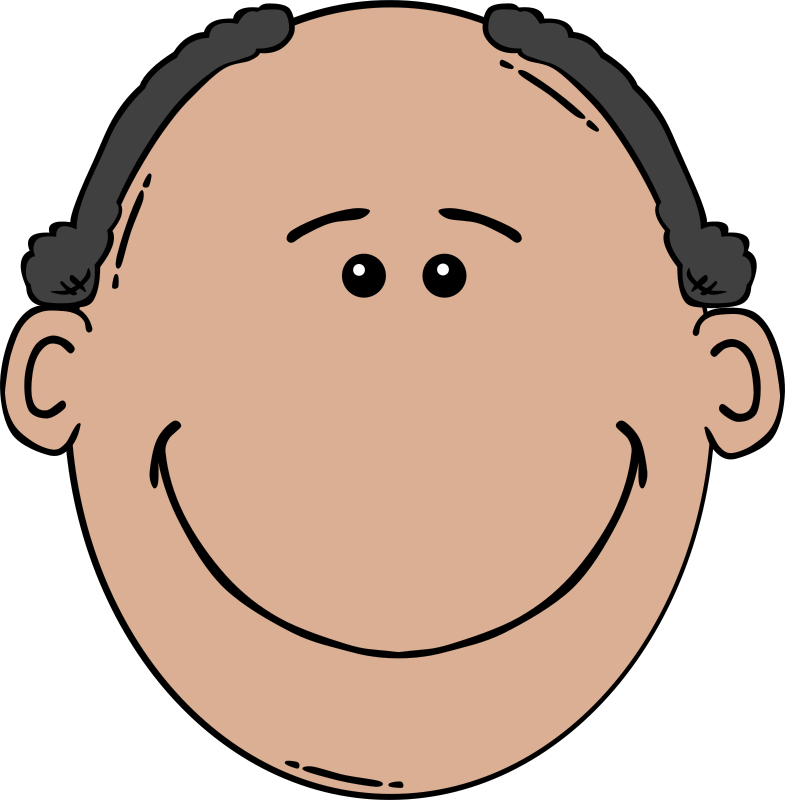 Free Clipart: Man Face Cartoon.