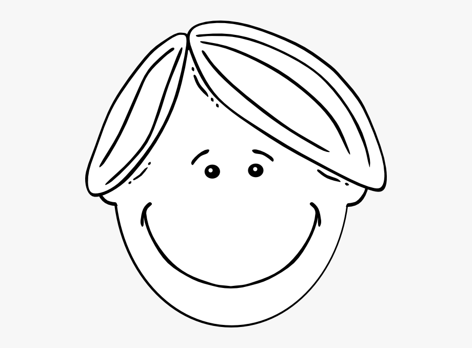 Girls Face Clipart Black And White.
