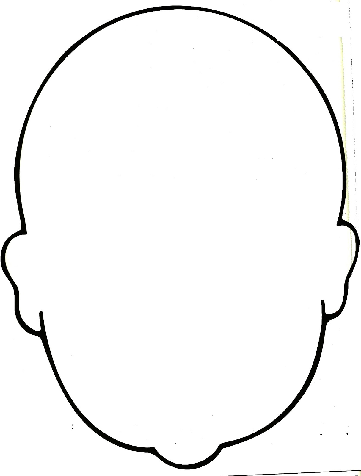 Free Blank Face Outline, Download Free Clip Art, Free Clip.