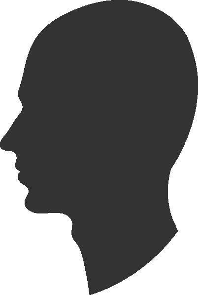 Face Profile Silhouette Clip Art.