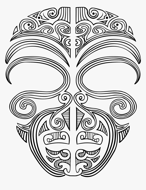 Tribal Skull Tattoos Clipart Maori.