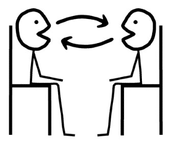 Face To Face Conversation Clipart.