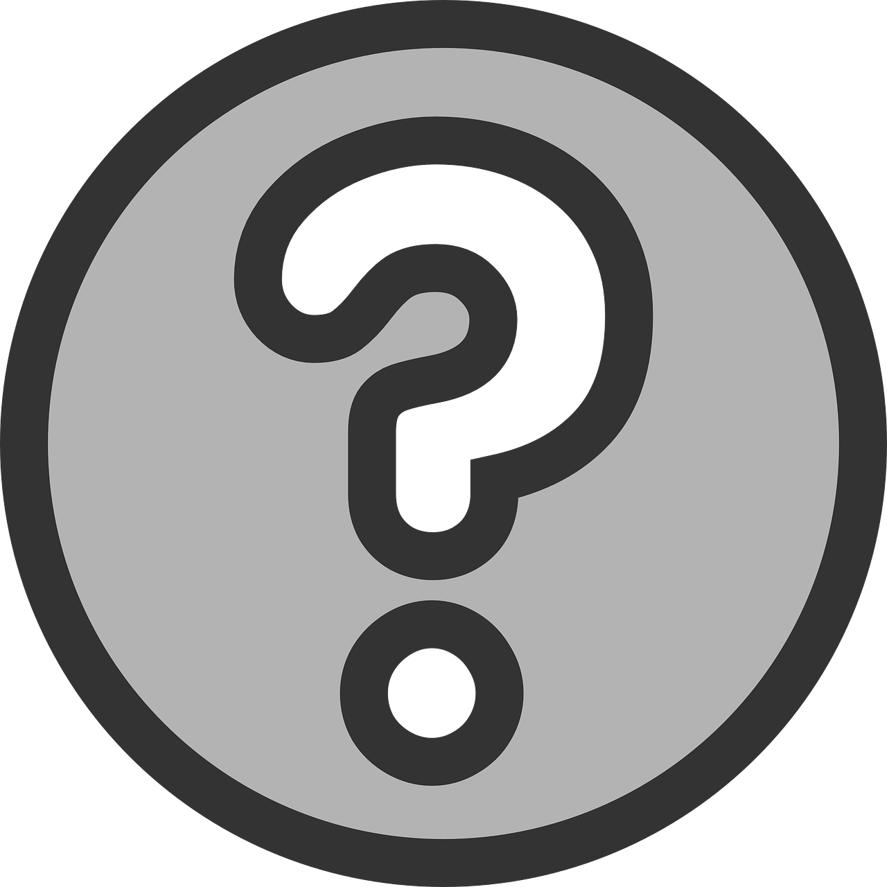 Question face question mark face clipart.