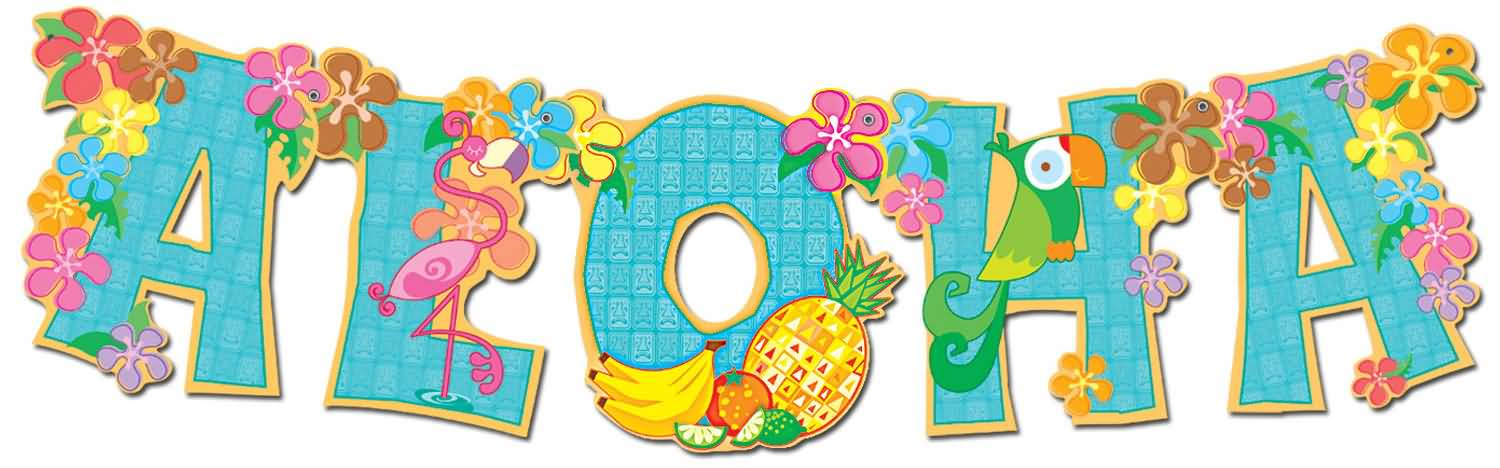 Aloha Flowers And Fruits Facebook Cover Picture.
