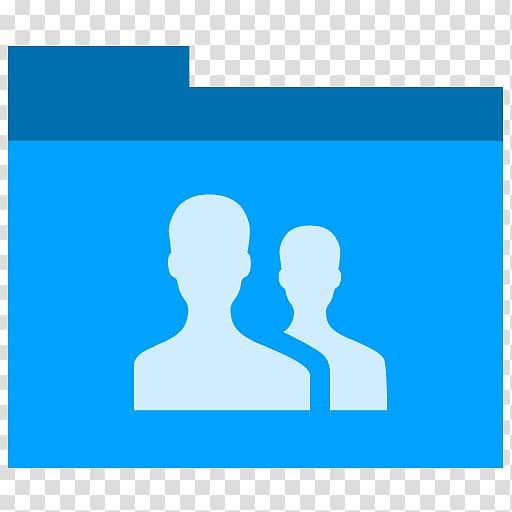 Facebook friend request logo, blue human behavior silhouette.