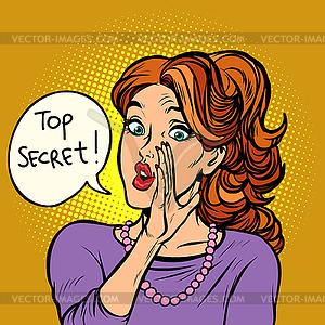 Top secret. women gossip rumor.