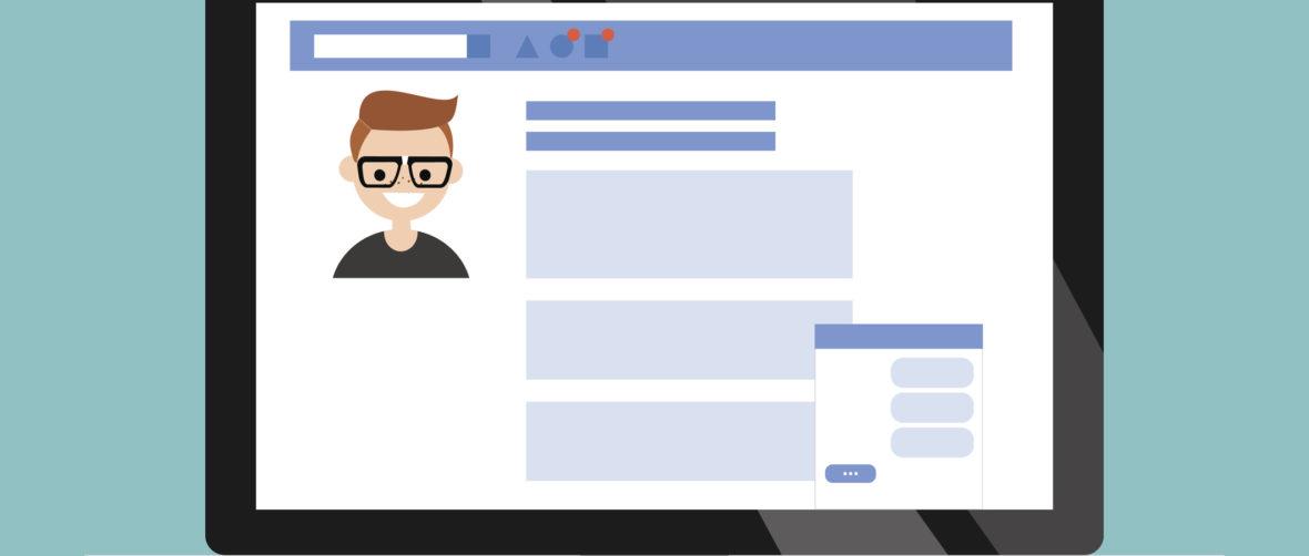 Facebook Profile Clipart.