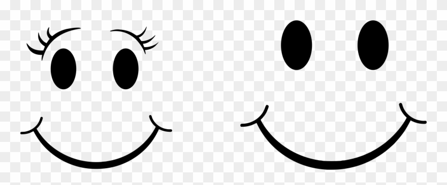 Smiley Face Clip Art Emotions Black And White For Kids.