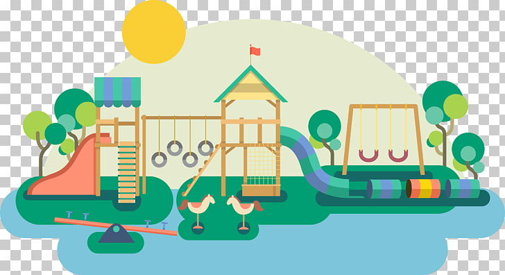 Playground Toy , Recreational toy facilities for children.