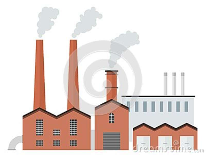 Brick factory stock vector. Illustration of simple, clipart.