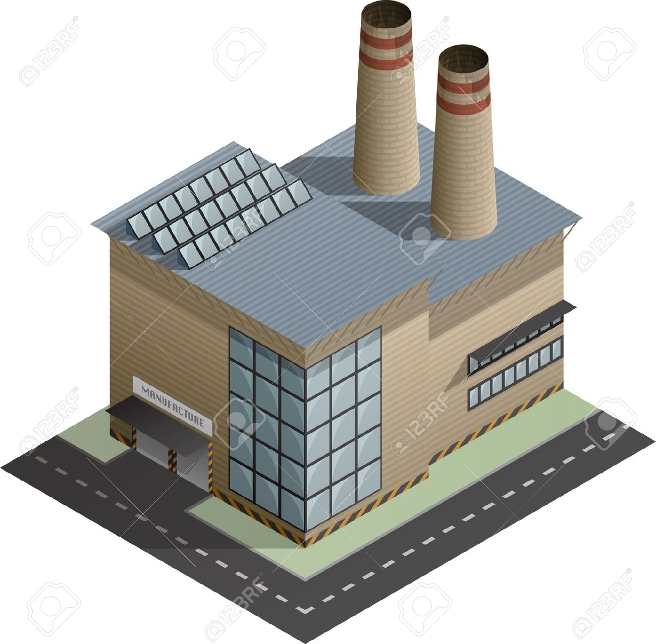 Factory Building Clipart Clip art of Factory Clipart #5634.