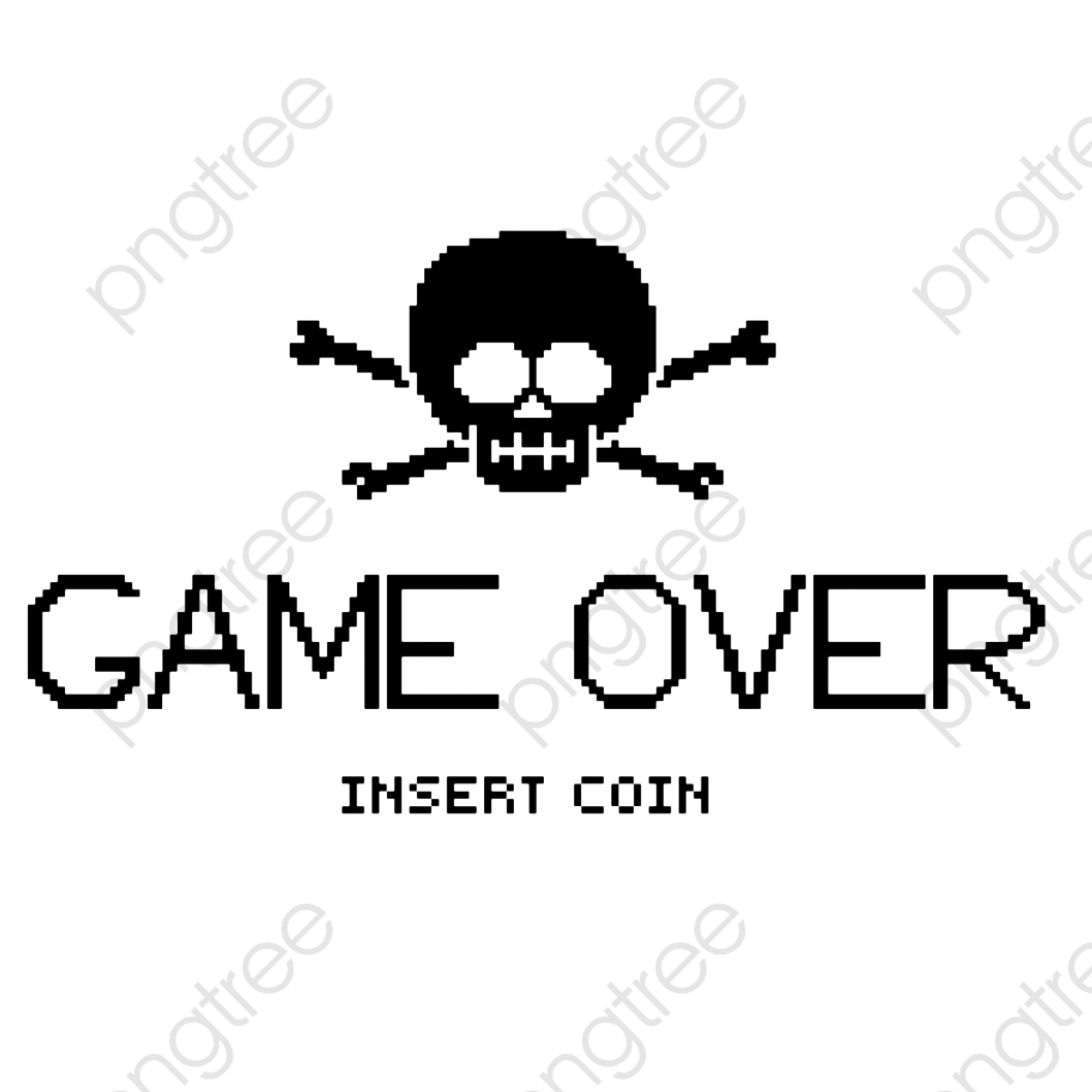 Black Game Failed Interface, Game, Over, Game Failure PNG.