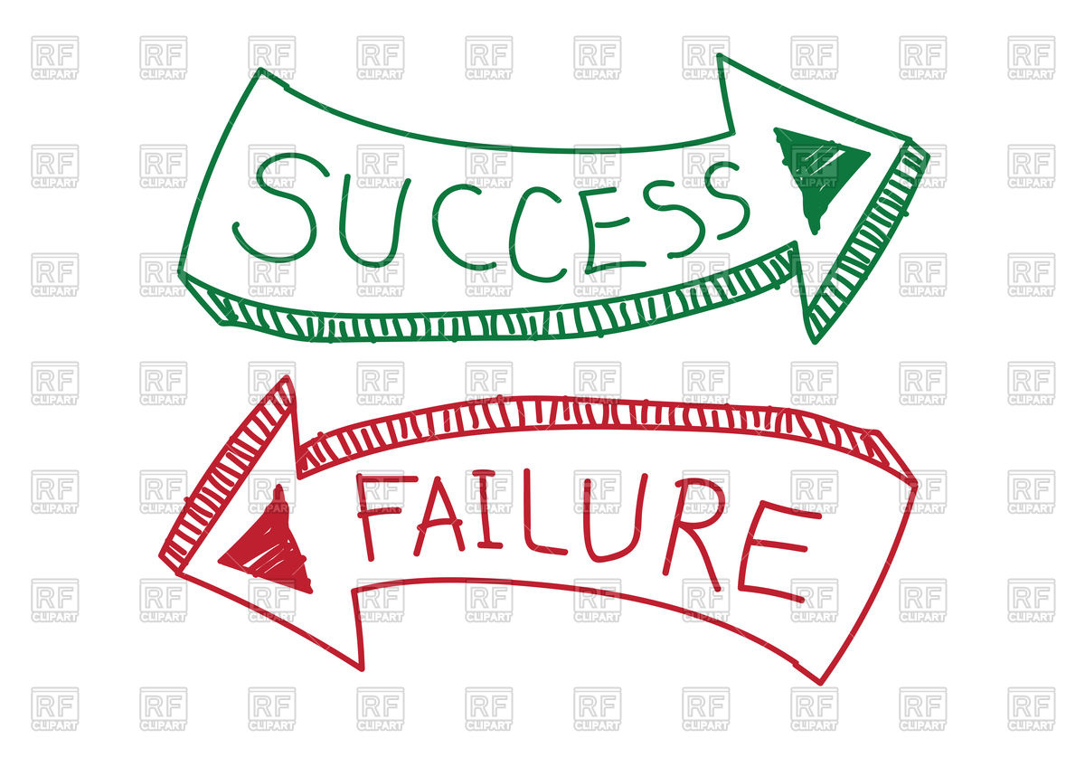 Success and Failure sign Stock Vector Image.
