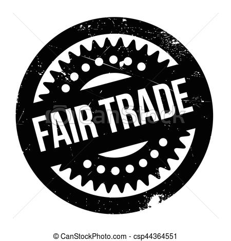 Fair Trade rubber stamp.