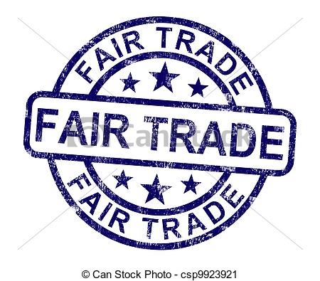 Fair Trade Stamp Shows Ethical.