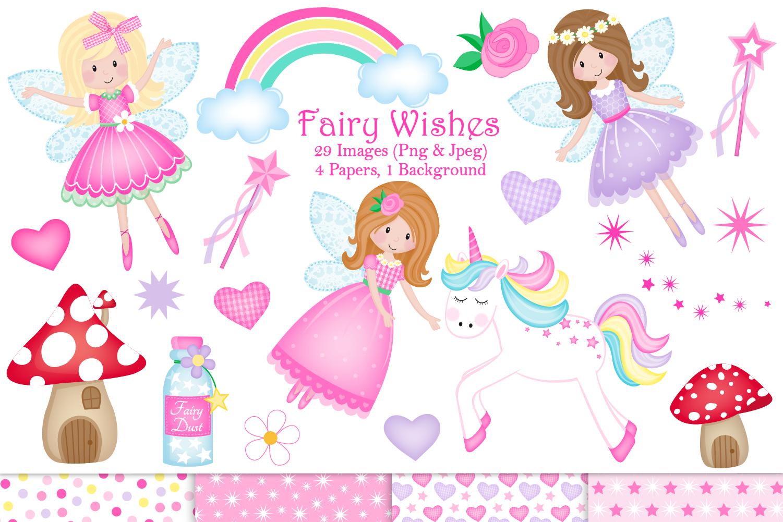 Fairy clipart,Unicorn clipart,Fairy graphics & Illustrations.