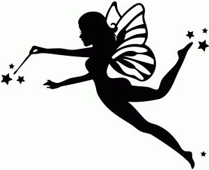 Fairy Silhouette Clipart.
