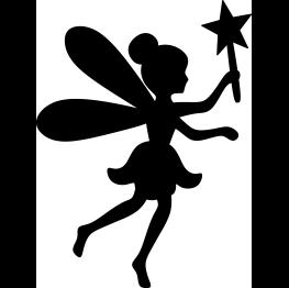 Fairy Silhouette FREE SVG.