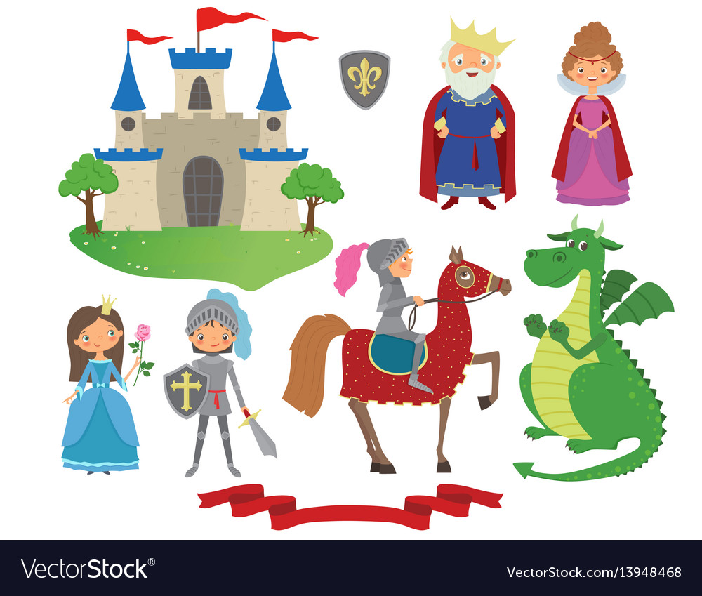 Set of fairy tale character.