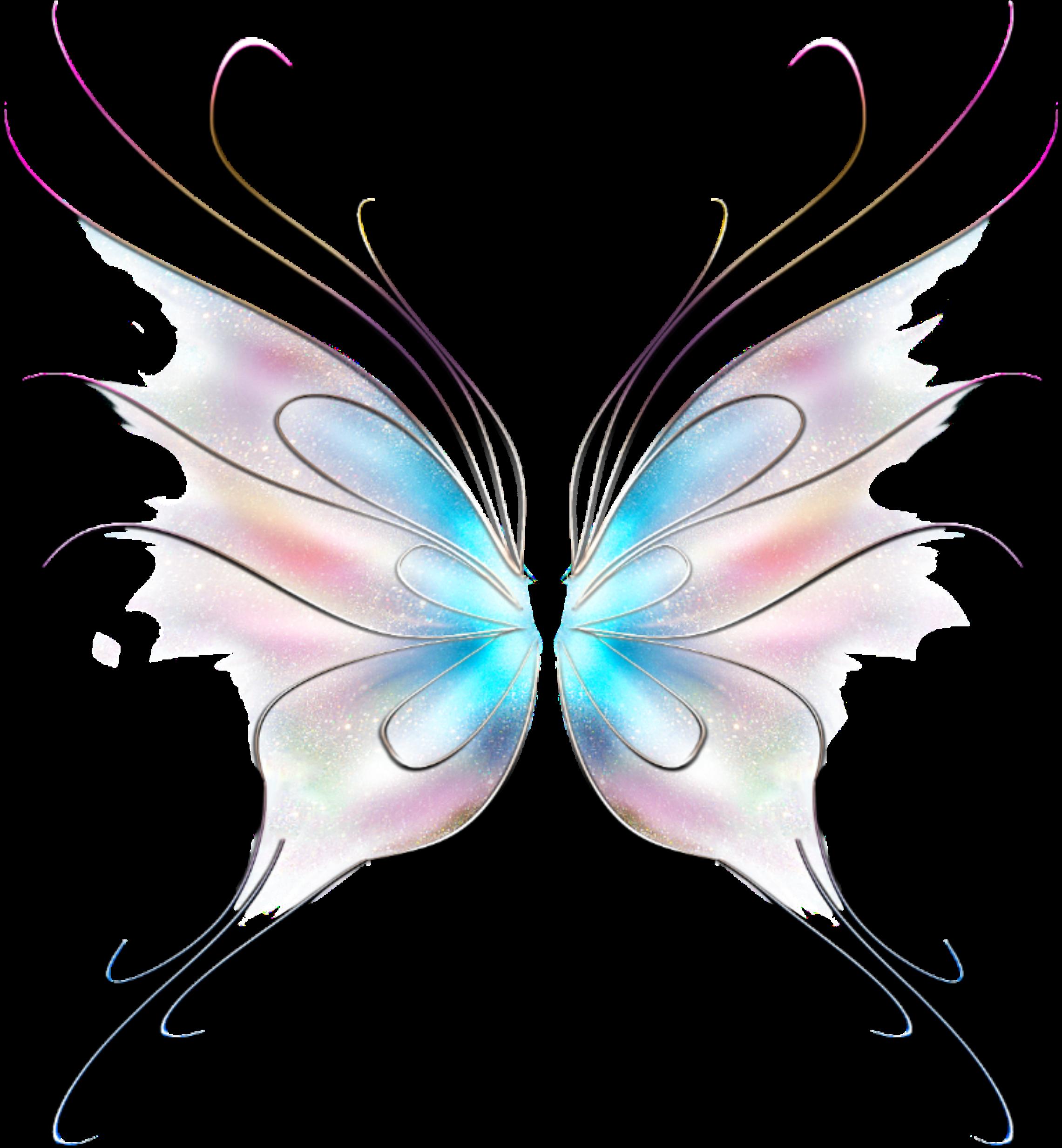 Art Butterfly Fairy Wings Stickers.